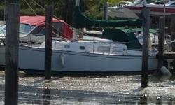"""Old Gal Solid boat. designed for crusing the Islands. actual draft 3'9"""" board up, 7'0"""" board down. Check it out. Draft: 3 ft. 9 in. Beam: 8 ft. 4 in. Fuel tank capacity: 30 Water tank capacity: 75 Holding tank capacity: 10 Speed max: 6 Consumption max:"""