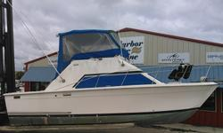 *** STK # 4800 *** Mechanic SPECIAL!! Must come down and SEE!! ** 1975, Trojan, F30 Sport Fish Fly Bridge, 2 225 HP Gasoline Motors OPTION AND FEATURES: ** Canvas Bridge Enclosure ** Radio/25 Watt VHF- Fied Mount ** Stereo AM/FM Cassette w/speakers **