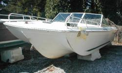 Project Bowrider Cut For Mercruiser 18 This spacious bowrider needs an Inboard/Outboard engine system .It used to have a Mercruiser 6 cylinder that has been removed. It has a solid floor, good carpet, includes the steering system, gauges, bow cushions,