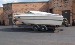 1976 Sea Ray SRV 220 CC This vessel has been completely redone 1976 Center Line length 22ft gunwale 23ft Mercruiser 888 and 233 The 1976 220 Cuddy Cabin is a 21.58 ft inboard-outboard boat The weight of the boat is 3400 lbs Which does not include