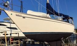 TURN-KEY ABSOLUTELY READY TO CRUISE NOW! Perfect boat for Bahamas and single handed sailing! Florence was just hauled out for new bottom job, zincs and a insurance inspection. Owner says she is ready for cruising now! Absolutely no issues. This boat