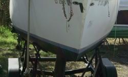Comes with a Boom Cover, No Main Sail, Jib is working 150% Genoa. 6 Berths, Holding tank, Galley. 1995 Triad Custom Trailer. Anchors, Bow rail and Lifeline. Seahawk 50 Unimetrics Marine Radio. Hull color: WHITE Vhf radio;