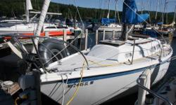 SLIP AVAILABLE The Ericson 29 is a classic Bruce King Design. Located in our boat yard on Lake Winnipesaukee, she has had updates and shows well. Wheel steering, self tailing primaries, Main and (2015)Genoa, with roller furling. This is