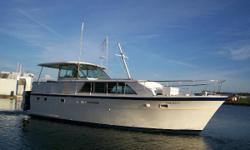 The Hatteras 43 is a traditional fush-deck motor yacht whose quality construction, spacious accommodations and comfortable ride made her one of the most popular motor yachts ever produced. Like most Hatteras designs of her era, the 43 was built on