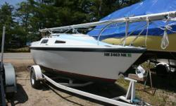 The Windrose is a perfect small cruiser or daysailer. Do look at this well built boat on its trailer. An excellent entry into sailing, or the perfect size boat for daysailing. The cockpit will seat four adults in comfort. Step below into the cute