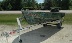 """NEW Winter Price ONLY $1,895! Here is a nice fishing boat that puts you on the water at an affordable price. Comes with a 1982 25 HP Johnson tiller and a Shorelander Single Axel trailer. Call now or stop ineither way you will be """"HOOKED"""" For more details"""