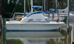 1973 Silverton Marine Flybridge 28 Convertible Very nice and well-maintained cruiser In the water Ready to go 5.7L 330HP Crusader Captains Choice fuel injected engine with only 400 hours Fuel efficient Fuel tanks replaced Hurth V-Drive transmission