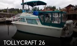 Actual Location: Gig Harbor, WA - Stock #107544 - If you are in the market for a motor yacht, look no further than this 1977 Tollycraft 26, priced right at $21,500.This boat is located in Gig Harbor, Washington and is in great condition. She is also