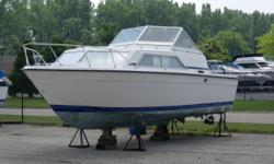 Solid project boat at a competitive price. This is a 1978 28.5 ft. Chris Craft Catalina with a solid hull and many new parts including guages and seats. It has twin Chris Craft 4 Cylinder inboards, head, galley, v-berth, and dinette/bed area Sleeps 4-5.