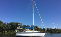 1978 Cape Dory Yachts 28 Intrepid Sloop-rigged Cruiser with Tiller Steering that has been rigged for Single or Short-Handed sailing. Brand New Installations.- 2017 - Quantum Tri-Radial CDX Main & 110% Jib 2018 - Garmin Navigation system 2018 - Raymarine