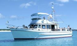 """Having been with the present owners since new """"Island Roamer"""" lives up to her name. This vessel has spent over 20 years in the Bahama's exploring the different Islands there. After many more recent Intracoastal trips, """"Island Roamer"""" has been"""