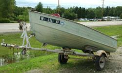 14' MirroCraft with Trailer This is a Nice fishing boat with a 18HP Mercury and a Trailer. Engine(s): Fuel Type: Gas Engine Type: Other Hours: 700 Stock number: WS 9215 GF