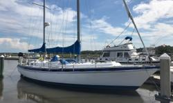 Price Drop to 39900.Owners not sailing anymore. Current owners have owned the vessel for 25 years. Center Cockpit with Walkthrough NOTE: We incurred some damage from the storm last year. We are repairing the Sail Covers. There is some above water