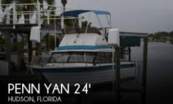 Actual Location: Hudson, FL - Stock #027083 - If you are in the market for a sportfish yacht, look no further than this 1978 Penn Yan SPORT FISH 23, just reduced to $9,900 (offers encouraged).This boat is located in Hudson, Florida and is in good