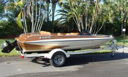 1979 Glastron Glastron Carlson CVZ-18, Classic Restored 1979 Glastron Carlson CVZ-18 with Mercruiser 898, 198 HP Engine and Newer Shorelander Trailer Professionally restored Feb. 2011, all new automotive base and clear coat paint (bottom, hull,and