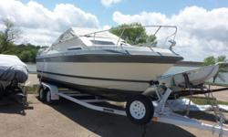 Big boat amenities in a smaller package. 2004 tandem trailer packaged with this 1979 25' Cruiser-AC, fridge, water system and more! Includes anchor, dock lines, life jackets and more! Ready to hit the lake. Call for details Beam: 8 ft. 0 in. Compass;