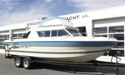 Vessel has ONLY been in fresh water! Volvo Penta 260A engine, aprx 108 hours Volvo Penta 280 sterndrive Western 2-axle trailer w/electric brakes, custom rims & side guides Dual batteries w/switch Trim tabs Bimini Bridge cover Newer full storage cover Hour
