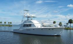 Accommodations & Layout CLASS ACT is the only 53 Hatteras sportfish with overlaid varnished teak transom. This fishing machine is one of the few three stateroom three head models. CLASS ACT was completely updated with new exterior and bottom paint April