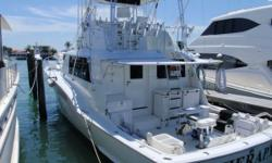DescriptionTherapy is not only a classic sportfishing machine. She is also the more desirable 3 stateroom 3 head version. With the galley and main salon up to enjoy views from all the windows.She has been Captain maintained and very well cared for.