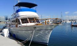 The Albin 43 is a solidly built trawler with two staterooms, two heads, and twin Ford Lehman diesel engines.  It is fuel efficient, comfortable, and would make a great liveaboard. This boat shows well and comes in a wonderful end tie slip that may be