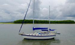 Solidly constructed, and with a proven track record, this boat offers tremendous value. Designed by Bob Johnson of Island Packet fame, the head room and spaciousness will surprise. The build quality is obvious when one looks at how sturdy and solid