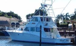1979/2012 Hatteras 60 Enclosed Bridge Convertible  She is a classic sportfish convertible with fantastic sea keeping abilities, and is a legendary fishing and cruising vessel. This one had an extensive refit completed in 2012, and is in