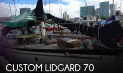 Actual Location: Honolulu, HI - Stock #058190 - If you are in the market for a sloop sailboat, look no further than this 1980 Custom Lidgard 70, just reduced to $120,000 (offers encouraged).This vessel is located in Honolulu, Hawaii and is in great