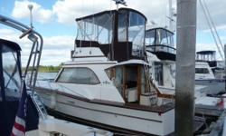 1980 Egg Harbor FLYING BRIDGE SEDAN Well Maintained And Documented In The Water Twin 350 Hp Marine Power Throttle Port Injected Engines 800 Hours On Engines Central Air And Heat New Head Stand-Alone Shower H And C Fresh Water Propane Stove And Oven Radar
