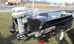 Check out this 1980 Monark 1644 Jon. Powered by a Johnson 35HP. Just was winterized and gear lube changed. Also included is a 1999 Haul Rite Boat trailer. It has a livewell and 2 Fold Down Seats. Titles clear and ready for a new home.  Nominal