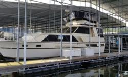 The Pacemaker 46 is a true classic motor yacht. She has been a freshwater vessel all of her life. Low engine hours. Owner has spared no expense on upgrades with a new Westerbeke generator with less than 20 hrs., new seating on upper helm and numerous