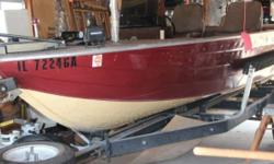 1980 Sea Nymph Fish & Ski SS-165 V RNBT 16 foot long 1980 Sea Nymph Fish & Ski SS-165 V RNBT Bass boat in great condition Two-tone Burgundy and Tan fiberglass hull with a matching vinyl interior Also comes equipped with a Single-Axle Trailer in great