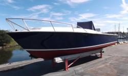 This is a great opportunity to own a very economical blue-water center console. She is a fantastic running boat and is ready to go for this Rock Fish season. Equipped with a Garmin 2010c chartploter, fishfinder, and VHF radio. Easy maneuvering with the