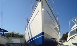 Just hauled, bottom painted and waxed/buffed. Owner motoviated and priced to sell. WELL MAINTAINED. Full navigational electronics including Raymarine C120 Radar/Chartplotter and Autohelm ST6000 Autopilot. Yanmar 56hp kicker (450 hours). Kiss Wind