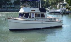 1981 Grand Banks Classic Call Captain Jerry at 941-383-5232 or email captainjerry@chitwood-charters.com This is a nice 36. Lehman 135 Hpr,Westerbeke 8 Kw Generator,2 A/C's,2 Heads,Classic Model with 2 Staterooms,New Bottom Paint,10 Coats new Varnish,Teak