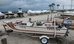 1981 Grumman by OMC Side Console Aluminum Hull boat is 15 feet in length. Features include Bimini Top ,2 Fishing chairs front and rear. Lowrance X4 DF/FF, AM/FM/CD Radio, and full Cover. Powered by a 1985 Yamaha 40SLK 2 Stroke motor with Aluminum Prop. A