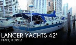 Actual Location: Miami, FL - Stock #112591 - If you are in the market for a motor sailer, look no further than this 1981 Lancer 42, priced right at $77,800 (offers encouraged).This vessel is located in Miami, Florida and is in good condition. She is also
