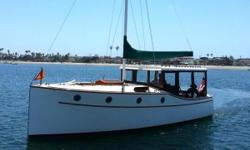 One of fewer than sixty (ALL FIBERGLASS) Scout 30s built in the late 1970's and early 1980's and one of only 3 built in a motor sailer configuration. She was designed by noted powerboat designer Ben Ostend. The Scout 30 was designed to evoke the grace of