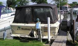 Clean boat ready for the next family to enjoy. Beam: 11 ft. 11 in. Compass; Depth fish finder; Stove; Vhf radio; Stereo; Bimini top; Shore power; Gps loran; Fridge; Shower; Camper canvas; Swim platform;