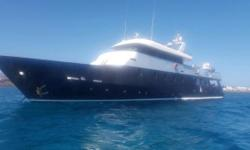 (LOCATION: Aruba) The Anastasiades & Tso Custom 40m Superyacht Is designed to provide luxury accommodations. She will meet your expectations with a spacious flybridge, wheelhouse, expansive main deck with master suite, Professional galley and lower deck