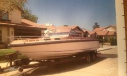 1982 Pierce Arrow Executive 23 Details- 23 foot cuddy cabin Rebuilt motor less than 150 hrs Rebuilt outdrive 0 hrs Newer interior About 3 years with 2yr old full cover Camper canvas Three props Trailer has new brakes Bunk boards 2 years old Located in