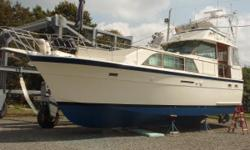 Stately cabin cruiser has matured - requires interior upgrades and some mechanical work - engines run great! Would be a super liveaboard! Nominal Length: 43' Length Overall: 43' Drive Up: 3.4' Engine(s): Fuel Type: Other Engine Type: Inboard Draft: 3 ft.