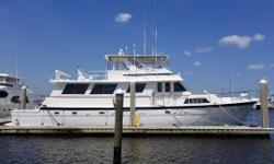 Now Asking $299,000 Beautiful 4 stateroom layout with Queen Berth in Master, Many Modern Upgrades, Galley Carpeting Replaced, Custom Top for Upper Deck, To Much to List. Twin 12V71 Detroit Diesels Running Excellent. User Friendly Aft Cockpit for Diving