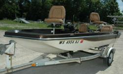 1982 Sea Sprite 15' Fiberglass Fishing Boat Powered by an Evinrude 55 Hp outboard, this fishing boat will a great investment when it comes time to take your best fishing buddy to the fishing holes you like best. At 15' it is easy to maneuver in any body