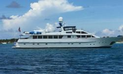"Fabulous upgraded Galley, well maintain long range cruiser, six ensuite guest staterooms, three crew staterooms, stabilized, bow thruster, prooven ocean-going yacht.  This Benetti 112 was built by "" The Lloyd's Shipyard "" in Brisbane, Australia."