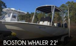 Actual Location: Murrells Inlet, SC - Stock #099692 - A Rare Find, Includes New Trailer!1983 Boston Whaler 22! A hard to find Whaler! Wood accents are a big part of this classic Boston Whaler, but many upgrades have been done to get this Whaler up to