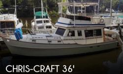 Actual Location: Annapolis, MD - Stock #112802 - If you are in the market for a trawler, look no further than this 1983 Chris-Craft 36, priced right at $36,000 (offers encouraged).This vessel is located in Annapolis, Maryland and is in good condition. She