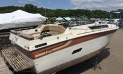 This classic Regal is looking for a new home and a handy owner. This boat is sold as-is. Nominal Length: 27' Length Overall: 27.1' Max Draft: 3.2' Drive Up: 3.2' Engine(s): Fuel Type: Other Engine Type: Stern Drive - I/O Draft: 3 ft. 2 in. Beam: 10 ft. 0