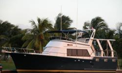 (LOCATION: Miami FL) The Sea Ranger 45 Sundeck is a spacious trawler designed for comfortable cruising. She comes with an open flybridge, aft deck with hard top, a roomy salon, three staterooms and two full heads. There's space for everyone and