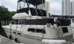 1983 36' Sea Ray Aft Cabin Motor Yacht Spacious 2 Bedroom / 2 Head Layout with a Large Salon & Galley Priced Aggressively for a Quick Sale Engine(s): Fuel Type: Gas Engine Type: Inboard Beam: 12 ft. 6 in. Hull color: White
