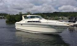 This 1983 Sea Ray 360 Express Cruiser could be your new home on the lake. Powered by Twin MerCruiser engines, this boat will take you where you need to go. Some of the key features include: Full Enclose Canvas, T-Top, Compass Engine Synchronizer,